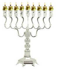 Silver plate Oil Menorah, Majestic | 30236