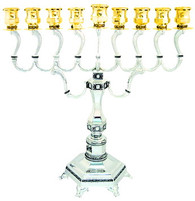 Stunning Gold and Silver Menorah. Nickel | 41921