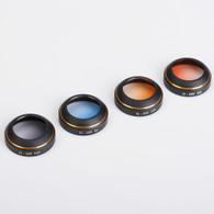 PGYTECH Filter for PHANTOM 4 PRO 4-PACK (Gray/Orange/Blue/Red)
