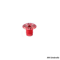 FrSky Vantac 3D M4 4mm CNC Aluminum Transmitter Gimbal Stick Ends - Umbrella Style - Red