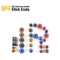 FrSky Vantac 3D M4 4mm CNC Aluminum Transmitter Gimbal Stick Ends - Umbrella Style - Golden