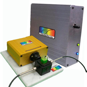 Preconfigured Fluorescence Spectrometer System includes SL1-LED, CUV-F, and SILVER-Nova high sensitivity fiber optic spectrometer.