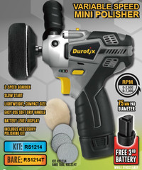 Durofix 12V 3″ 2-SPEED Mini Polisher 3 batteries RS1214 UK Stock Free delivery