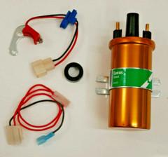 Electronic Ignition Kit & Coil 23D & 25D Lucas Distributors Positive earth