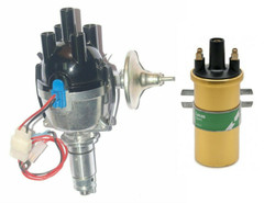 Lucas 25D 4cyl Electronic distributor Top entry cap & Coil Assembled in the UK