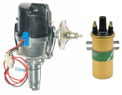 Lucas 25D 4cyl Electronic distributor side entry cap & Coil Assembled in the UK