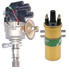 Electronic Ford Cross flow Distributor Lucas Type Side entry cap & Sports Coil