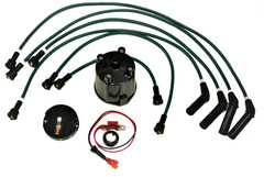 Electronic ignition kit Delco HT leads Cap Rotor Bedford Vauxhall Slant engines