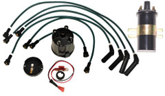 Electronic ignition kit Delco HT leads Cap Rotor & Coil Bedford Vauxhall