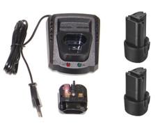 AcDelco + Durofix 12v Battery Charger + Batteries x2 (G12 series) B1212LA