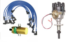 New Triumph Stag Distributor with electronic ignition coil & Blue ignition leads