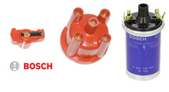 VW Beetle Distributor Cap & Rotor Arm + Coil Genuine Bosch replacement parts