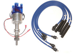 Ford Pinto Bosch Type Electronic distributor to fit Pinto Engine +Blue HT Leads