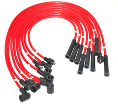 Red HT Leads for Rover V8 Based cars 8mm Silicon manufactured in UK