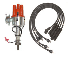 Ford Pinto Electronic distributor fits Pinto Engine + Black HT Leads
