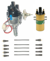 Lucas 25D 4cyl Electronic distributor ignition leads & Coil Assembled in the UK