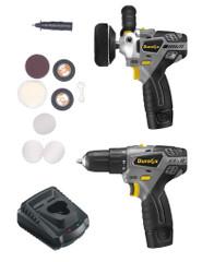 """Durofix Professional 12V 3"""" Mini Polisher/sander 2 speed drill & 2 Batteries"""