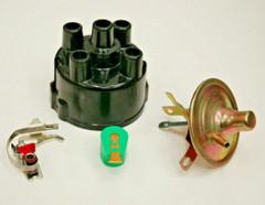 Distributor Repair Kit for Lucas 45D 59D 4 Cyl Distributors Cap Rotor Points Vac