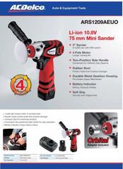 "ACDelco Professional Li-ion 12V 3"" (75 mm) Mini Sander / Polisher"