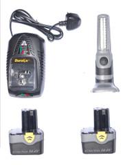 Durofix 14.4V Li-ion batteries x 2  charger x1 Light bar x 1 Fits RI1658  RK1695