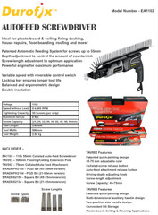 110 volt Collated Decking / DryWall Autofeed Screw Gun / Drill UK stock
