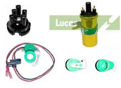 Electronic Ignition, Cap, rotor arm & coil for Lucas 23D & 25D Distributors