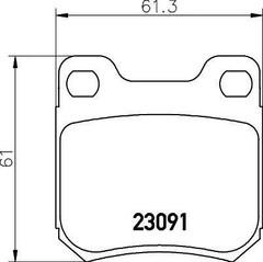 Brake Pad Set, disc brake MINTEX MDB1918