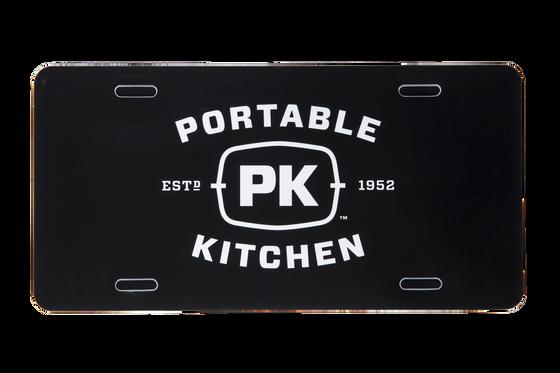 PK Grills Logo License Plate - Black