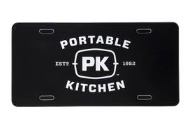 PK Grills Logo License Plate - Black
