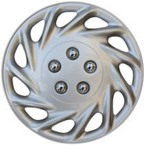 KT-858-14S/L, 1998 FORD ESCORT 14 WHEEL COVER SILVER/LACQUER