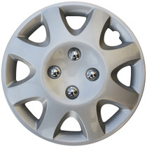 KT-895-14S/L, 1998 - 2000 HONDA CIVIC 14 WHEEL COVER SILVER/LACQUER