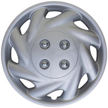 KT-869-14S/L, 1996 - 1999 SATURN S SERIES 14 WHEEL COVER SILVER/LACQUER