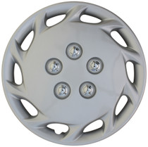 KT-877-14S/L, 1997 - 1999 TOYOTA CAMRY 14 WHEEL COVER SILVER/LACQUER