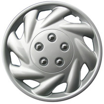 KT-869-15S/L, 1996 - 1999 SATURN S SERIES 15 WHEEL COVER SILVER/LACQUER