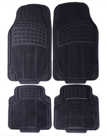 Cover Trend - 4PCS PVC Floor Mats Black Unversal