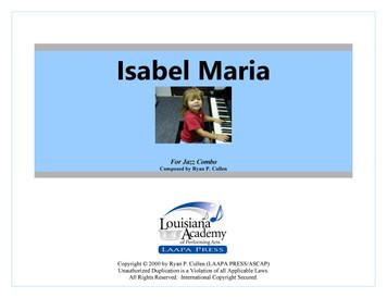 Isabel Maria - for Jazz Combo (Score/Parts - PDF)
