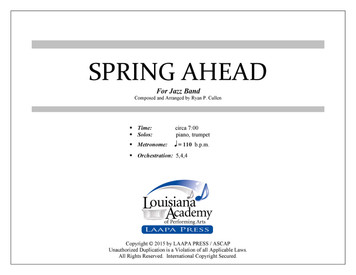 Spring Ahead - for Jazz Band (Score/Parts - PDF)