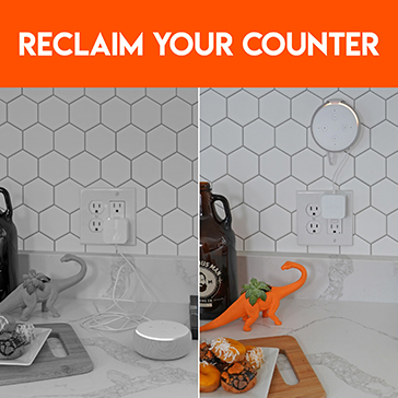 Reclaim your counter space with echo dot mount solutions