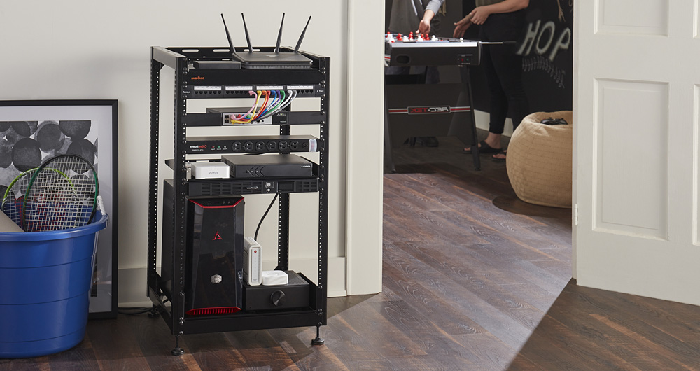 20U Open frame rack for AV & networking server gear