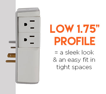 built to blend in with your homes decor with a low profile design