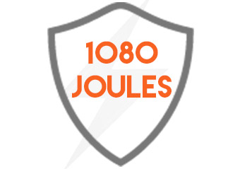 surge protection level up to 1080 joules