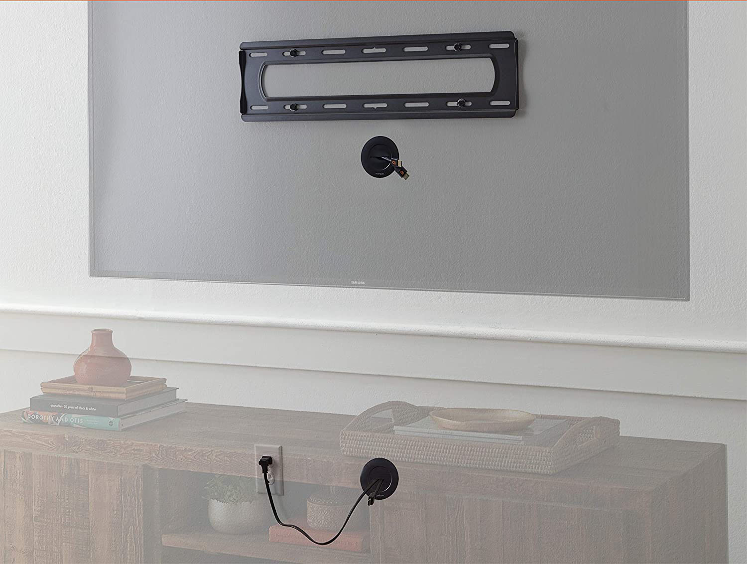 In wall cable management grommet kit