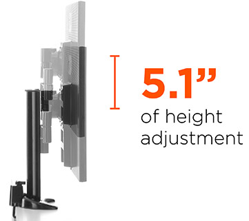 height adjustable monitor mount for big computer screens