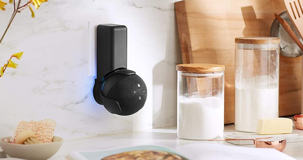 black outlet holder for echo dot 4th generation
