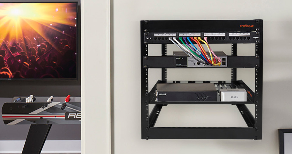 Echogear 10U server rack wall mounted