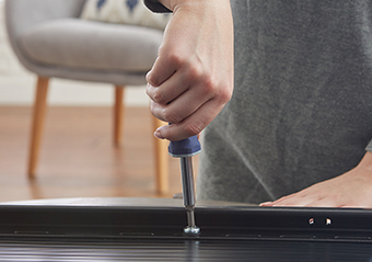 Our simple install takes only 3 steps, first attach the brackets to the back of your flatscreen tv