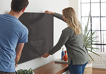 Now the Samsung, Vizio, LG, Insignia & other Tv Brands can be mounted on the wall with the ECHOGEAR Low profile tv mount