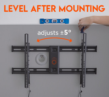 This tv mount is the best because of the option to level/adjust the tv after mounting