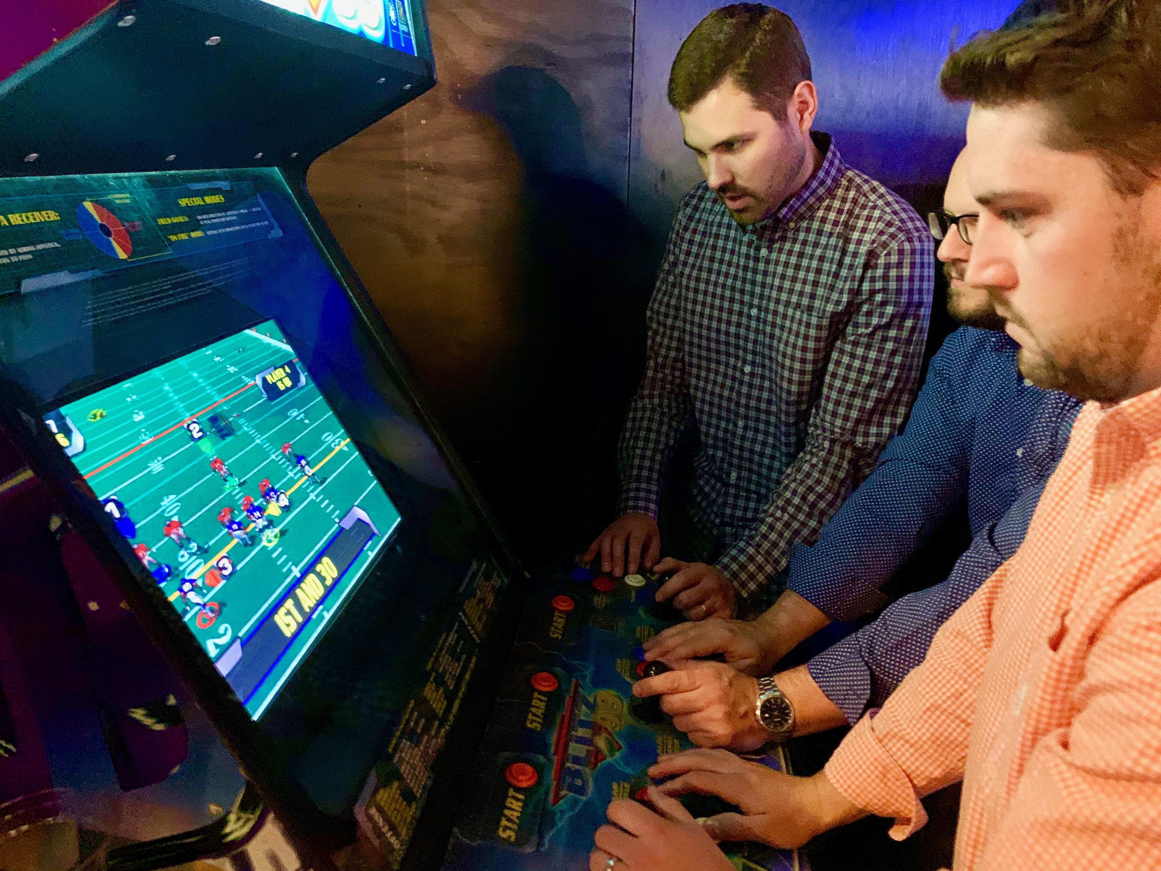 hot dudes at Up-Down Arcade bar minneapolis