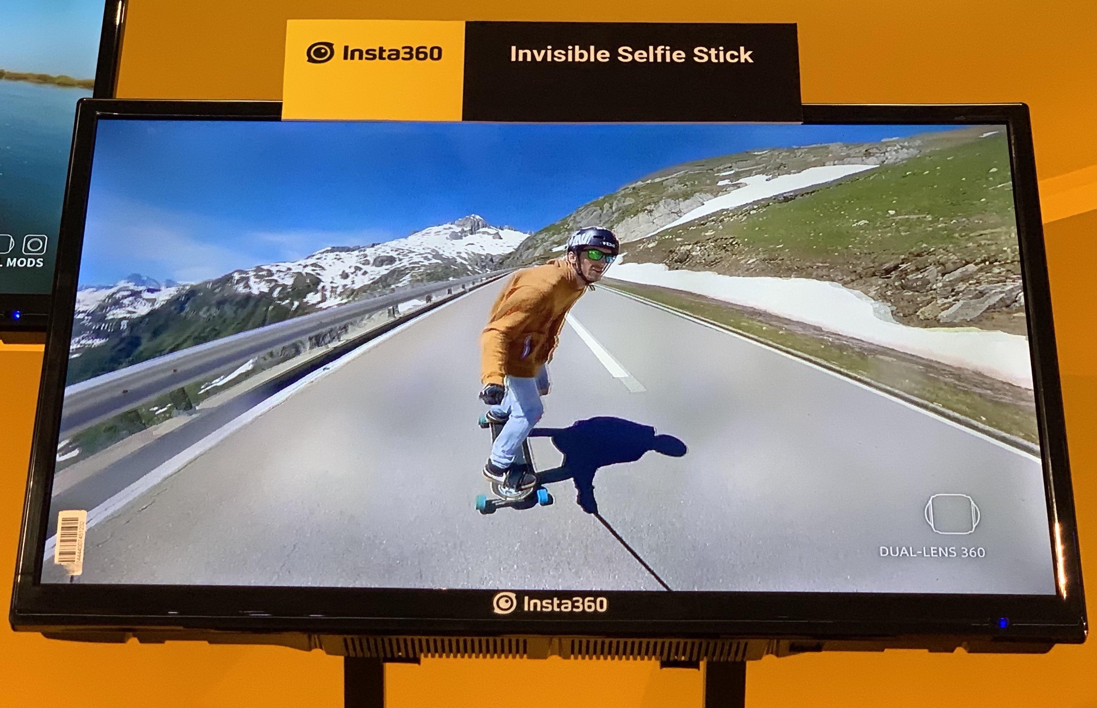 Insta 360 invisible selfie stick
